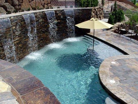 Las vegas residential pools and spas photo gallery las for Pool design las vegas
