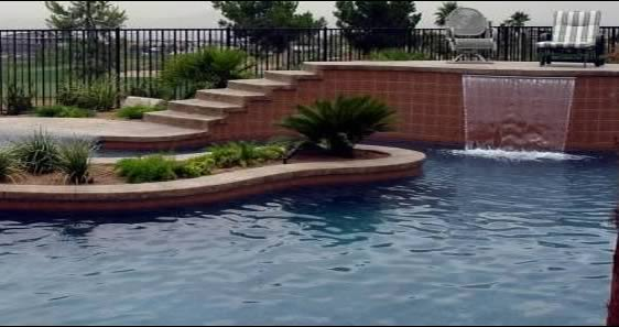 Las Vegas Residential and Commercial Swimming Pools, pool remodeling, decks, bbqs, water and rock features